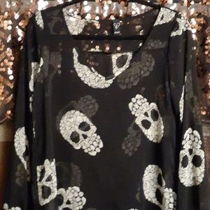 Sheer skull top, awesome.
